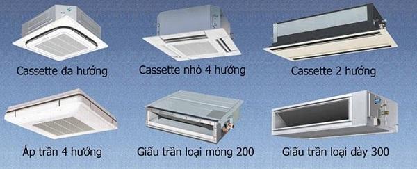 Thiết kế thi công hệ thống lạnh VRV - các kiểu dàn lạnh